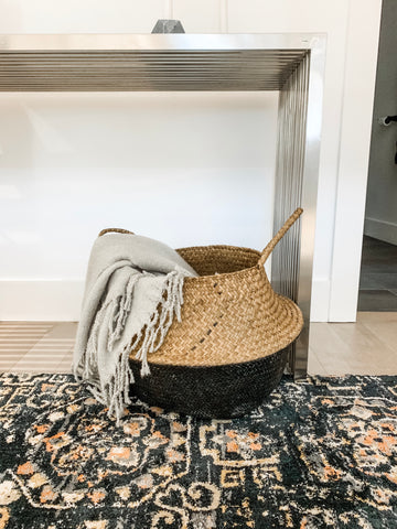 Black Bottom Seagrass Basket