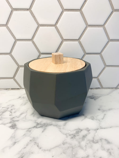 Grey Geometric Canister
