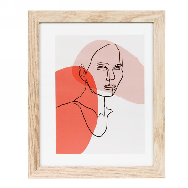 Abstract Print in Wooden Frame