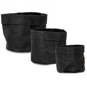 Black Storage Baskets - Set of 3