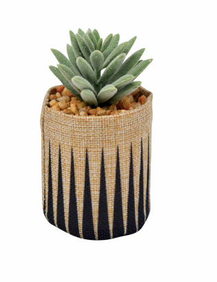 Faux Spike Succulent in linen planter