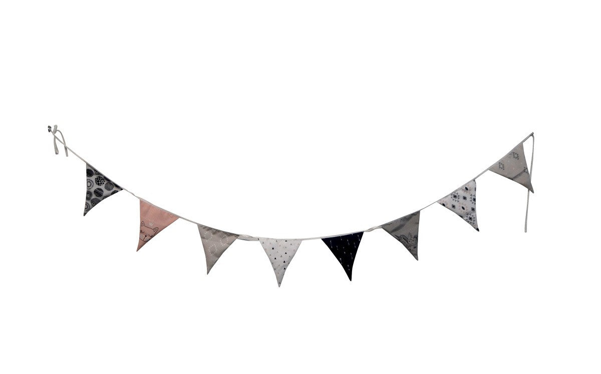 Pink, Black and White Hanging Banner