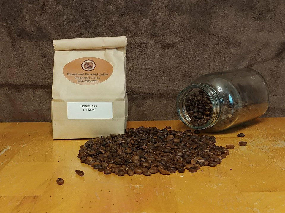 Honduras El Limon Home Roasted Freshly Ground Dazed and Roasted Coffee