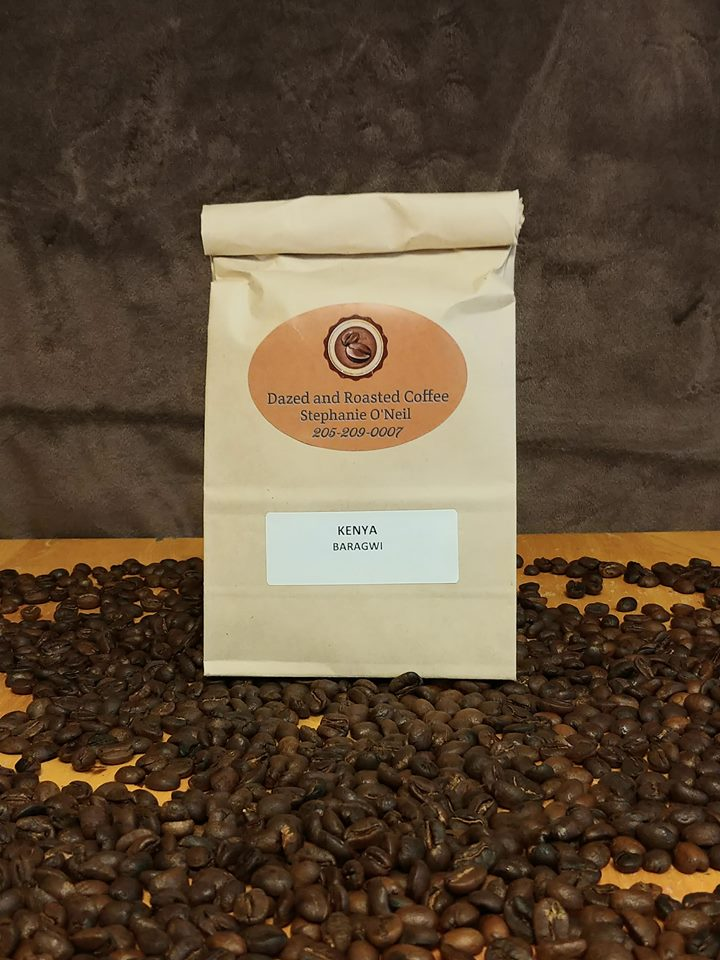 Kenya Baragwi Home Roasted Fresh Ground Dazed and Roasted Coffee