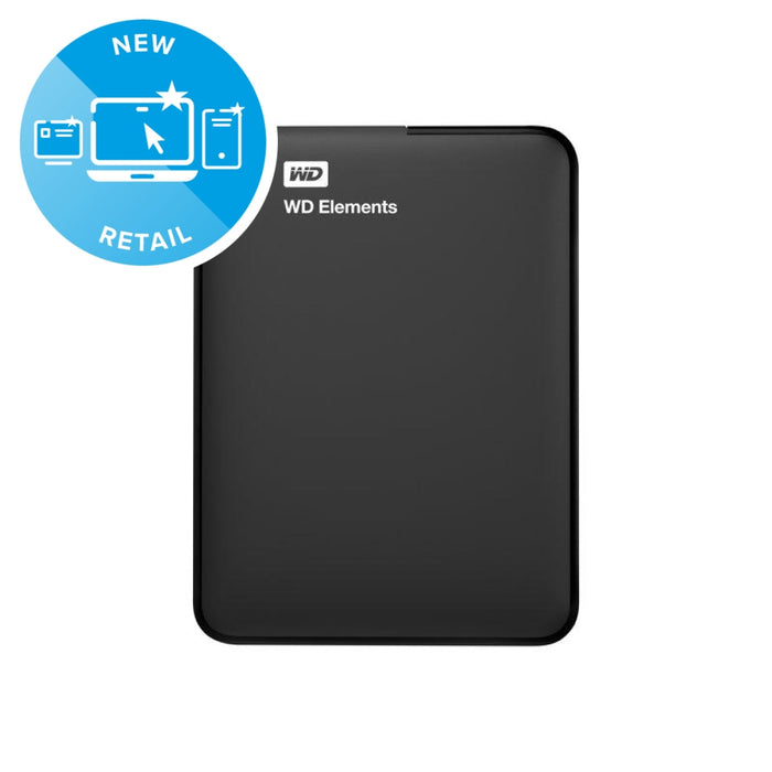 WD Elements Portable 1TB External Hard Drive WDBUZG0010BBK