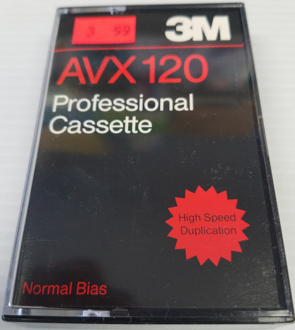 3M AVX 120 Professional Cassette Normal Bias 120 Minutes - New
