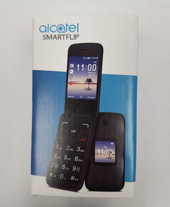 "Alcatel SmartFlip Flip Phone, 4GB Memory, 2.8"" Dual Display, Blueooth, WiFi, Unlocked 4052R - Gray - Razzaks Computers - Great Products at Low Prices"