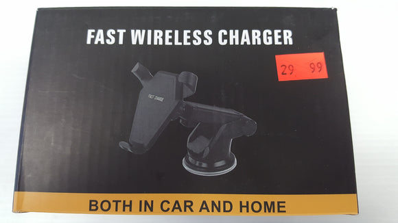 Wireless Cellphone Charger - Car and Home - Fast QI Compliant - Black