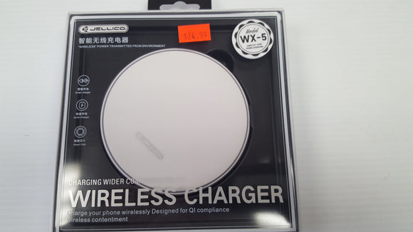 Jellico Wireless Charger for  QI Compliant cellphones Model WX-5 - White - Razzaks Computers - Great Products at Low Prices