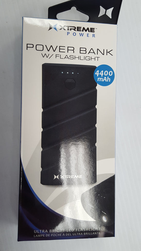 Xtreme 4400 mAH Power Bank with Flash Light - Brand New
