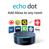 Echo Dot (2nd Generation) - Smart speaker with Alexa - Black - BRAND NEW