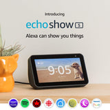 Amazon Echo Show 5 – Compact smart display with Alexa - Charcoal - New - Razzaks Computers - Great Products at Low Prices