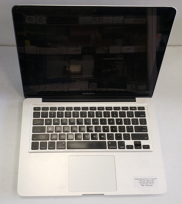 Apple Macbook Pro late 2011, Intel i5 2.4 GHz, 4GB 240 SSD  - SELLER REFURBISHED
