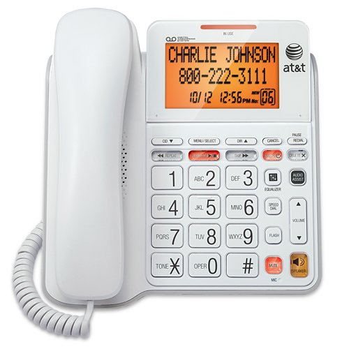 AT&T CL4940WH Corded Phone Caller ID Call Waiting Speakerphone Answering- Refurbished