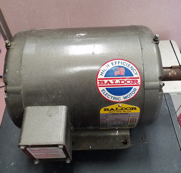 Baldor AC Motor M3211T 3 HP 1725 RPM Three Phase, ODP, 182T Frame - Used