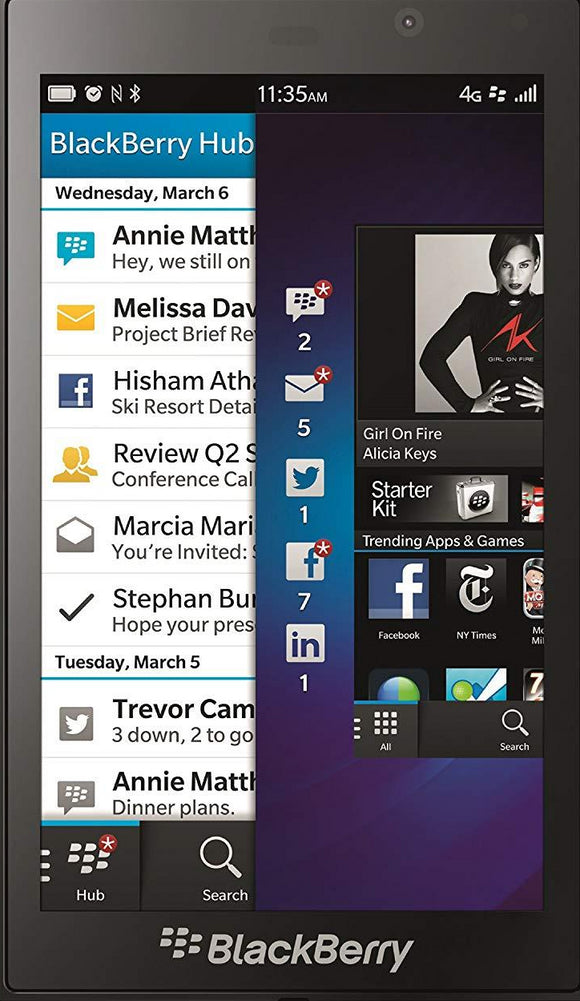 BlackBerry Z10 STL100-3 16GB Unlocked GSM OS 10 Cell Phone - Black and White- SELLER REFURBISHED