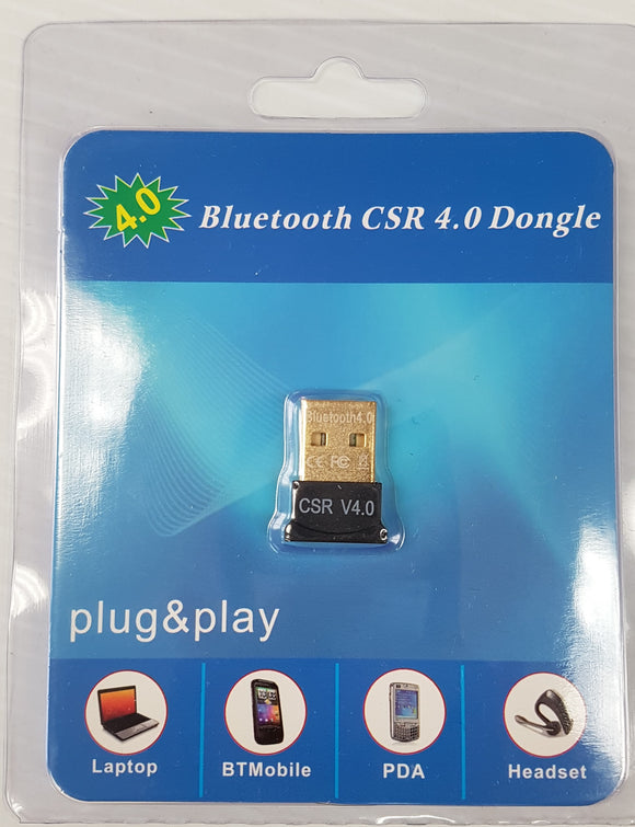Bluetooth USB CSR 4.0 Plug-in Dongle to connect Windows Computers - New - Razzaks Computers - Great Products at Low Prices