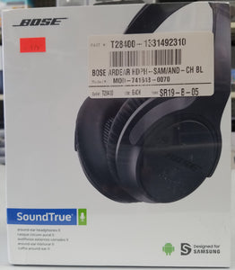 Bose Sound True Around Ear Headphones Charcoal Black for Samsumg Brand New