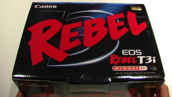 Canon EOS Rebel T3i 18.0MP Digital SLR Camera with EF-S 18-55mm Zoom Lens, Black