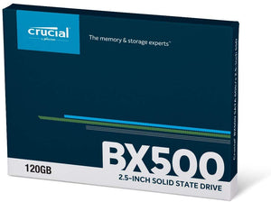 "Crucial by Micron 120 GB 2.5"" 3D Nand SSD Drive - BX500 - CT120BX500SSD1- New - Razzaks Computers - Great Products at Low Prices"