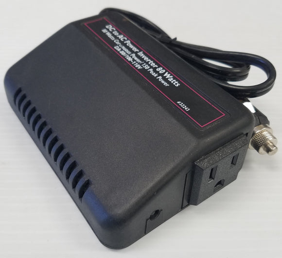 Voltage Converter 12V DC to 120V AC 80 watts for Cars, Trucks etc Charge and Run devices - New