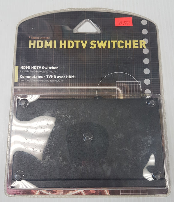 Digital Extender HDMI HDTV Switcher for HDTV / DVD Player / Set-Top Box / PC - New - Razzaks Computers - Great Products at Low Prices