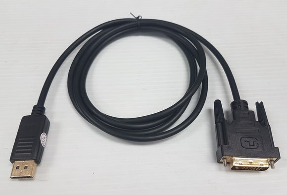 Display Port male to DVI-D male 6' Cable to connect LCD Monitor, TV - New - Razzaks Computers - Great Products at Low Prices