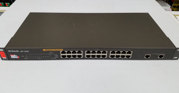 D-Link DES-1026G 24-Port Fast Ethernet Unmanaged Rackmount Switch with 2 Gigabit Ports - USED - Razzaks Computers - Great Products at Low Prices