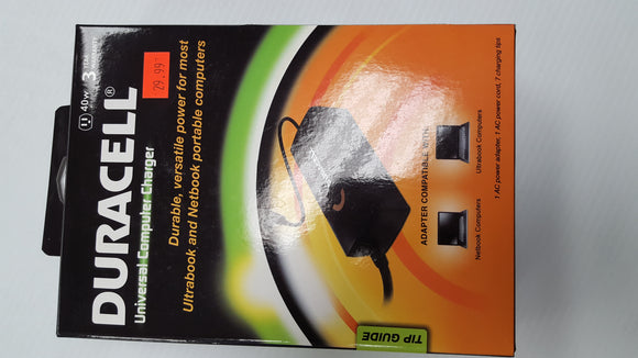 Duracell 40w Universal AC Adpater   - NEW - Razzaks Computers - Great Products at Low Prices
