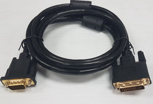 DVI-D male to VGA female 6' cable to connect LCD Monitor, TV - New - Razzaks Computers - Great Products at Low Prices