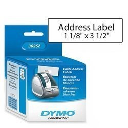Dymo LabelWriter Address Labels, 1 1/8 x 3 1/2, White, 350 Labels/Roll, 2 Rolls/Pack 30252 - Razzaks Computers - Great Products at Low Prices