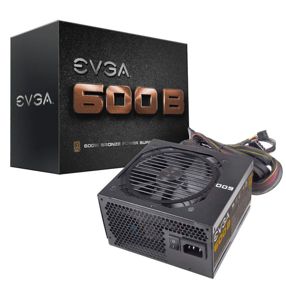 EVGA 600 B1 100-B1-0600-KR 80+ BRONZE 600W Includes FREE Power On Self Tester Power Supply