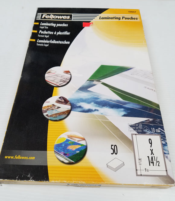 Fellowes Laminating Pouches Legal Size 9