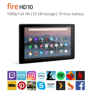 "Amazon Fire HD 10 Tablet, Tablet | 10.1"" 1080p Full HD Display, 32 GB, Blackk - Brand New"