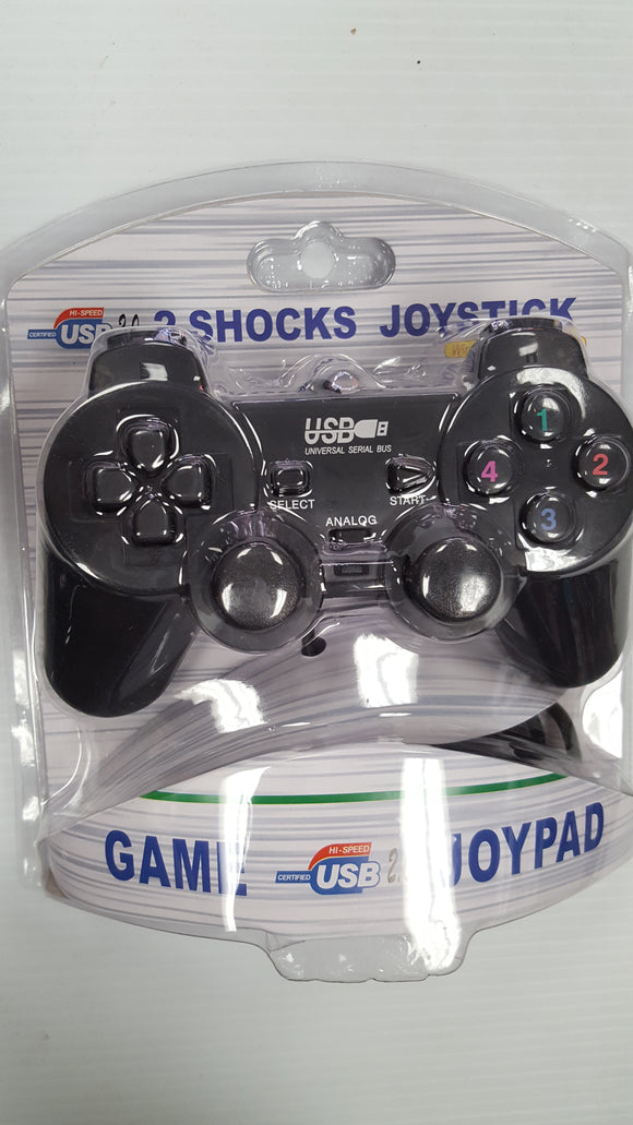 Computer Gaming USB Dual Shock Joystick for Windows PCs - Wired - BRAND NEW - Razzaks Computers - Great Products at Low Prices