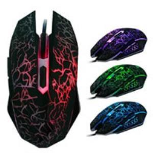Gaming Mouse 6-Button Colorful Backlight 1600DPI Optical USB Wired - BRAND NEW - Razzaks Computers - Great Products at Low Prices
