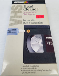 Gemini VHS VCR and Camcorder Head Cleaner - Non Abrasive Wet System - New - Razzaks Computers - Great Products at Low Prices