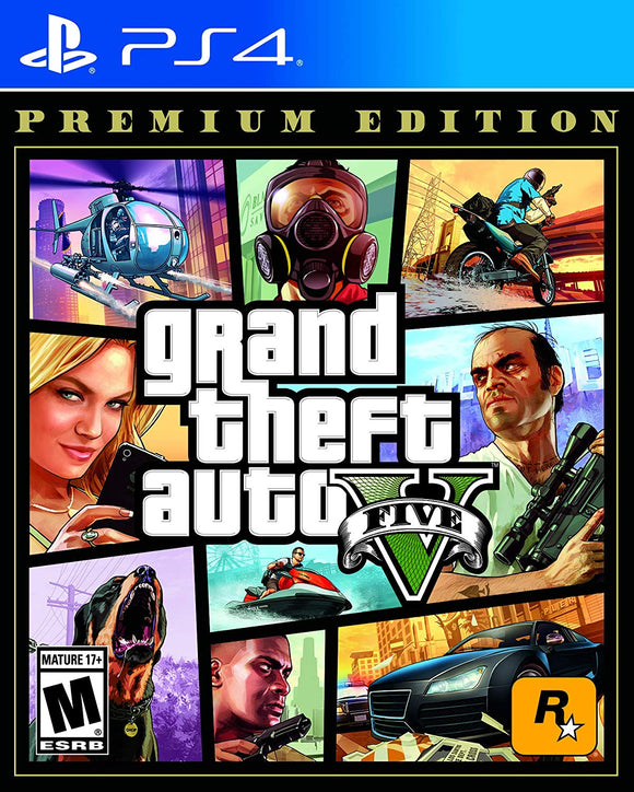 Grand Theft Auto GTA V Premium Edition and Grand Theft Auto Online for PlaysSation 4 PS4 - New - Razzaks Computers - Great Products at Low Prices