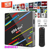 H96MAX+ Smart TV BOX 4GB+32GB Android 8.1 Quad Core 4K WiFi Set-top Box 4K 3D - Razzaks Computers - Great Products at Low Prices