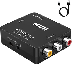 GANA HDMI to AV Converter Adapter with 3 RCA Output to connect TV with RCA input - New - Razzaks Computers - Great Products at Low Prices