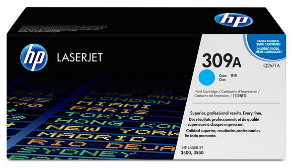 HP 309A Q2671A Cyan Original LaserJet Toner Cartridge for Laserjet 3500 3550,  4000 Pages - New - Razzaks Computers - Great Products at Low Prices