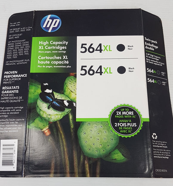HP 564XL Black Print Cartridge 2-pack - New - Razzaks Computers - Great Products at Low Prices