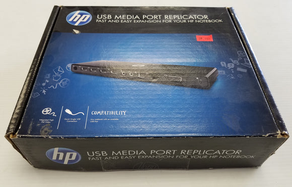HP USB Media Port Replicator VY843AA#ABA - Expansion for Notebook - Used - Razzaks Computers - Great Products at Low Prices