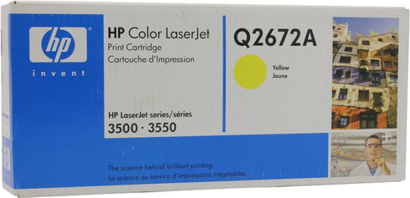 HP 309A Q2672A Yellow Original LaserJet Toner Cartridge for Laserjet 3500 3550,  4000 Pages - New