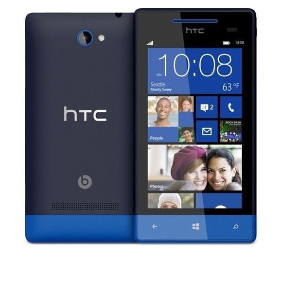 HTC Windows Phone 8S - 4GB - Blue (Unlocked) Smartphone - USED