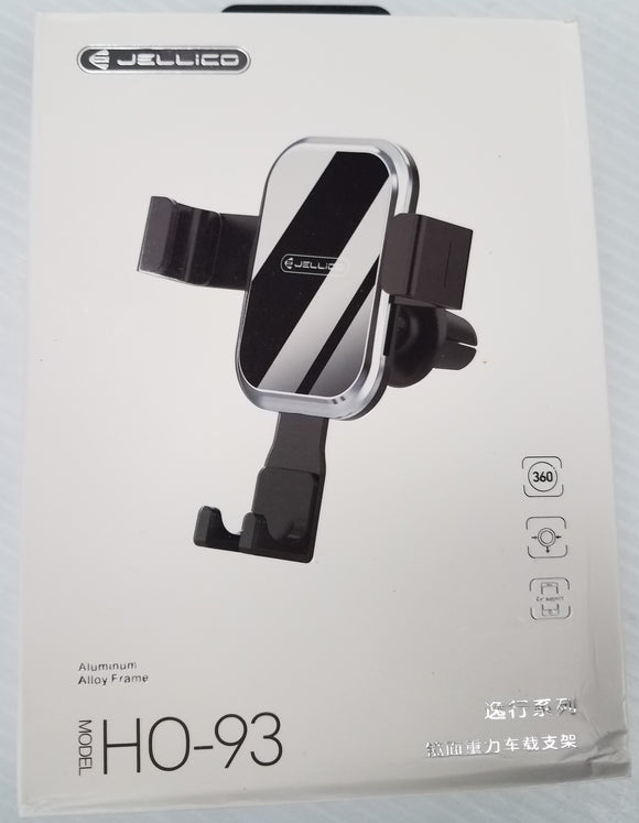 Jellico HO-93 Universal Gravity Car Air Vent Cell Phone Holder Aluminum Alloy - New