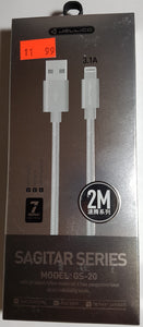 Jellico Lightning to USB Fast Charging and Data Cable for iPhones iPads 2-meter 5V-3.1A GS-20 - New - Razzaks Computers - Great Products at Low Prices