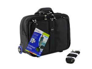 "Kensington Black 17"" Contour Roller Notebook Carrying Case Model 62348CA - Razzaks Computers - Great Products at Low Prices"