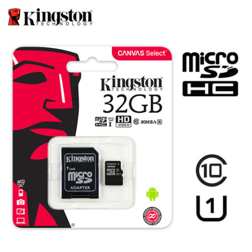 Kingston 32 GB MicroSD with Adapter Class 10 HC 80MB/s SDC/32GBCR - New