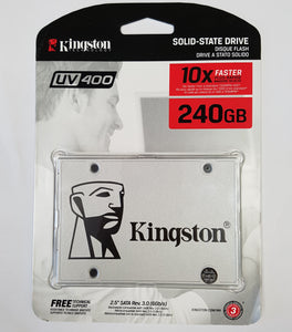 "Kingston Digital 240GB UV400 SSD 2.5"" SATA Rev 3.0 (6Gb/s) SUV400S37/240G - New - Razzaks Computers - Great Products at Low Prices"